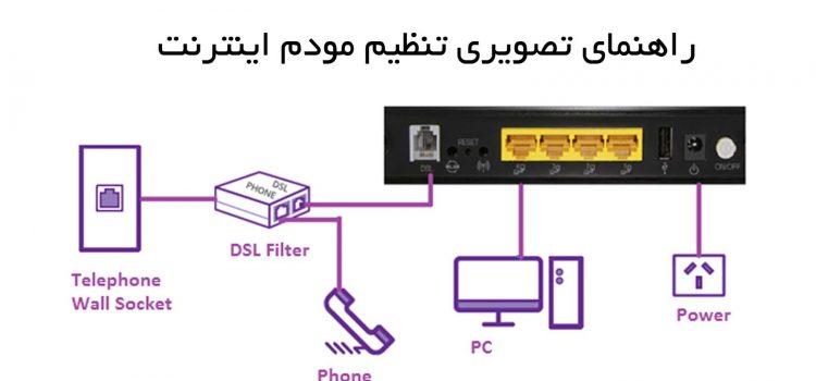 آموزش تنظیم مودم ADSL اینترنت مخابرات